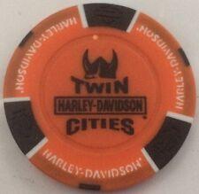 MINNEAPOLIS-ST PAUL Mall Of America TWIN CITIES Harley Davidson Poker Chip MN OB