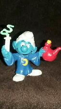 Smurfs Alchemist Smurf Magic Wizard Figurine Vintage PVC Toy Figure Bully