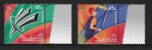 MUH Paralympic Torch 2000 Australian Stamp Set