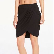 Fabletics Clarissa Solid Black Stretchy Wrap Tulip Pencil Skirt Size XS