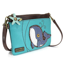 Chala Mini Crossbody Whale Handbag, Vegan Leather, Purse Adjustable Strap