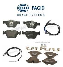 For BMW F10 528i xDrive 11-16 Front & Rear Brake Pad Set w/ Sensors Hella Pagid