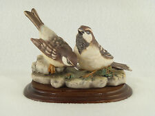 G. Armani Capodimonte Sparrows Bird Figurine - Made in Italy