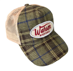 Warson Motors Flannel Check Cap Light Green