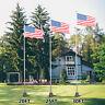 20/25/30ft Flag Pole Telescopic Aluminum 5 Sectional Fly 2 Flags Flagpole Kit US