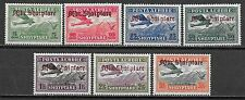 Albania stamps 1929 Mi 210-216 Airmail Mlh Vf