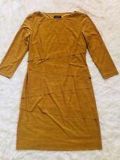 TAHARI Gold 3/4 Sleeves Polyester/Spandex Dress 6P