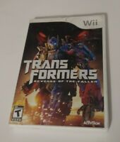 Transformers: Revenge of the Fallen (Nintendo Wii, 2009) ACTIVISION TEEN FAST