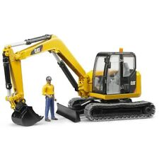 Cat Mini excavator with worker