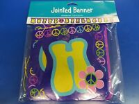 Groovy Girl 60's Peace Hippie Theme Birthday Party Decoration Jointed Banner