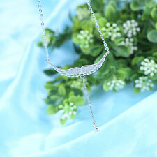 S925 Sterling Silver Necklace Korean Fashion Angel Wings Necklaces