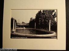 1930's MUNICIPAL POOL, MADISON, GA., Print