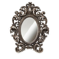 NIB Ornate Frame Victorian Baroque Mirror Antiqued Silver Shades of Alchemy SA3