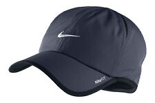 New Nike Feather Light Cap Hat Dri Fit Run Tennis 595510-451 Obsidian Blue (navy