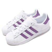 adidas Originals Superstar W White Purple Women Casual Shoes Sneakers EE9152