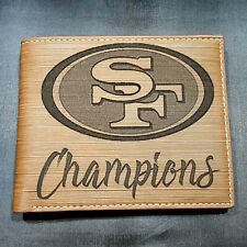 San Francisco 49ers Champions Men's Wallet Laser Engraved Football 49er Gift