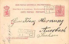 Postkarte Ganzsache Luxemburg Ulflingen 1888 Carte Postale