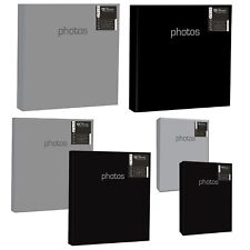 "Home Collection Solid Colour Slip In Photo Albums - Black or Silver 4x6"" or 5x7"""