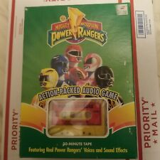 Mighty Morphin Power Rangers Audio Game Parker Brothers Action Packed Vtg 1994