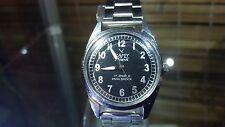 CAMY GENEVE Swiss Vintage Wrist Watch Classic Black Dial