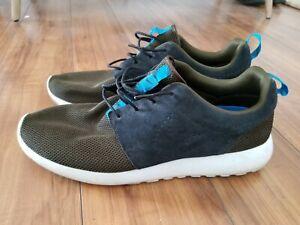NIKE Roshe One Run Shoes 511881-303 Dark Loden/Black/Turquoise MENS SZ 15