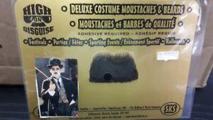 Real character black mustache- 100% Human hair Hitler, Charlie Chaplin