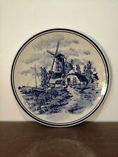 CHEMKELA DELFT BLAUW assiette décorative bleu moulin à vent SEE-MEEUW vintage