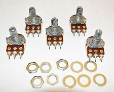 5 Potentiometers B25K 15mm shaft