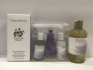 Crabtree Evelyn VENETIAN VIOLET Bath Shower Gel OR Hand Therapy OR Travel Set