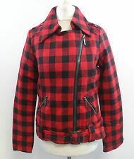 New York Laundry Red / Black check jacket size UK 8 BOX72 82 M