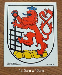 Sticker Aufkleber Wappen Wuppertal NRW 80er Jahre Kofferaufkleber Reise Stadt