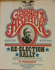 Reproduction Print of 1883 Chester A. Arthur Re-Election Rally