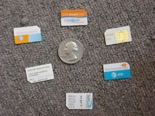 One cell cellular phone sim card cards smart chip chips At&T SunCom Verizon Cing
