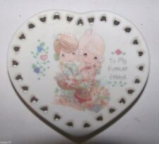 Precious Moments - To My Forever Friend Mini Heart Plate 1993