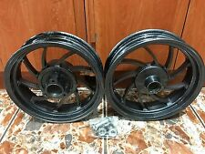 """SCOOTER GY6 150CC CARBON FIBER RIM WHEELS 13"""" X 3.50 FRONT AND REAR DISC BRAKE"""