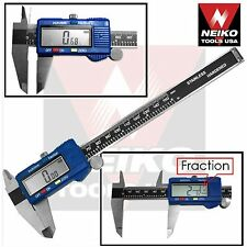 NEIKO 01412A - Digital Caliper Stainless Steel 6-in w/ Metric/SAE/Inch-Fractions