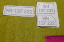 1/6 SCALE GERMAN WWII NUMBER PLATE TRANSFERS FOR DRAGON DREAMS DID BBI FIGURES