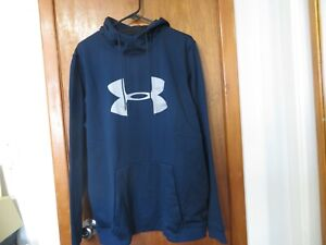 UNDER ARMOUR MEN'S  LONG SLEEVE HOODIE NAVY BLUE SIZE XL