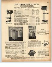 1942 Paper ad boice Crane elettroutensili Panca JIG Scroll visto Giuntatrice TORNIO
