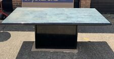 Large marble dining table