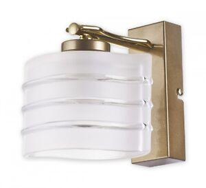 WALL LIGHT FITTING GOLD GLASS SHADE - SWIRLS MODERN WALL LAMP LED HALLWAY DINING