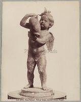 Napoli Scultura Italia Foto Brogi Vintage Albumina C 1880
