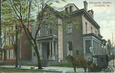 Reading Pennsylvania Homeopathic Hospital Street View 1907 Postcard