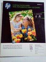 "HP Everyday Photo Paper - Semi-Gloss - 50 sheets- 8.5"" x 11"""