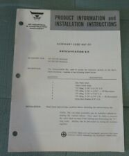 Massey Ferguson MF 222 320 backhoe anticavitation install instructions brochure