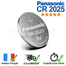 1 Pile Lithium CR2025 Panasonic 3V Télécommande, Calculatrice, Chronomètre, Led