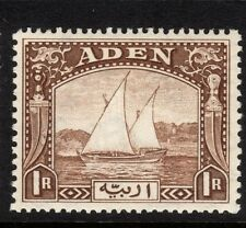 "Aden 1937 KGVI ""Dhows"" 1r brown  SG 9 - lightly mounted mint"