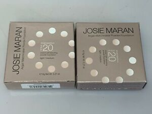 Josie Maran Argan Matchmaker Powder Foundation (Light/Medium) Lot Of 2