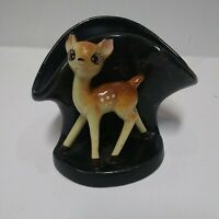 Vintage Ceramic Bambi Deer Fawn Planter Vase Display