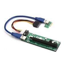 USB 3.0 Pcie PCI-E Express 1x to16x Extender Riser Card Adapter SATA Power Cable